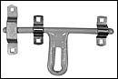 "Door Latch, 8 "" Latch, Offset – Powder Coated Latch Bar w/ Zinc Plated Keeper"
