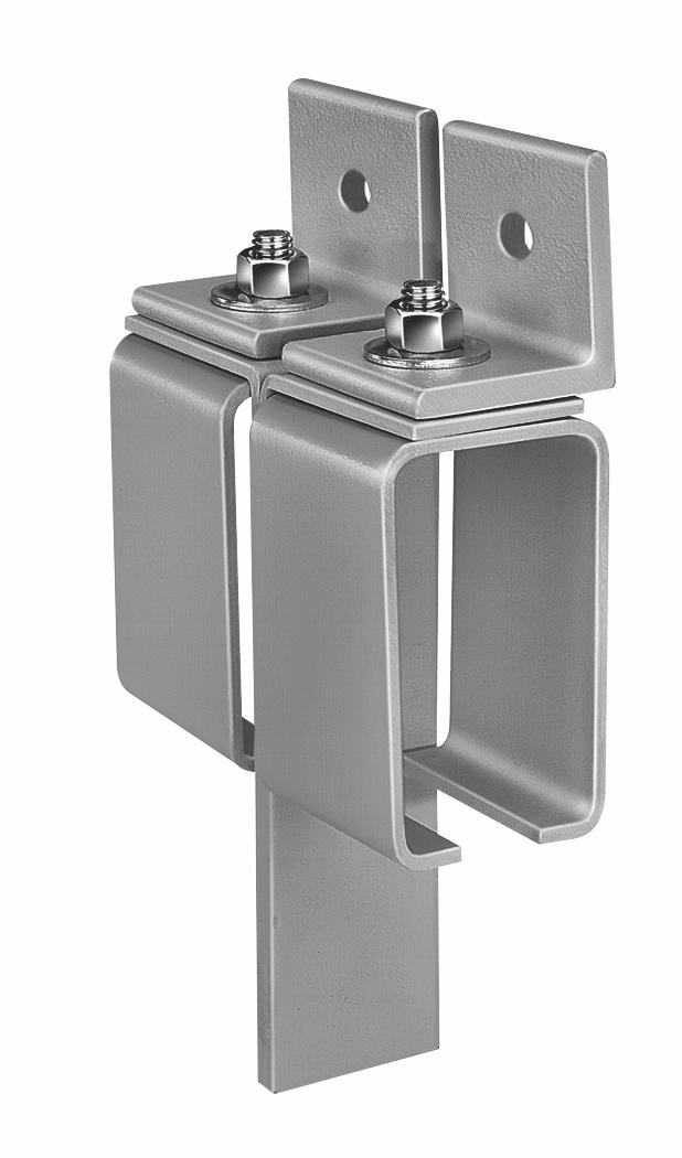 Series 376 Bracket, Sidewall Center Stop – Zinc Plated