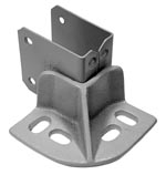Floor Mounted End Stop – Powder Coated