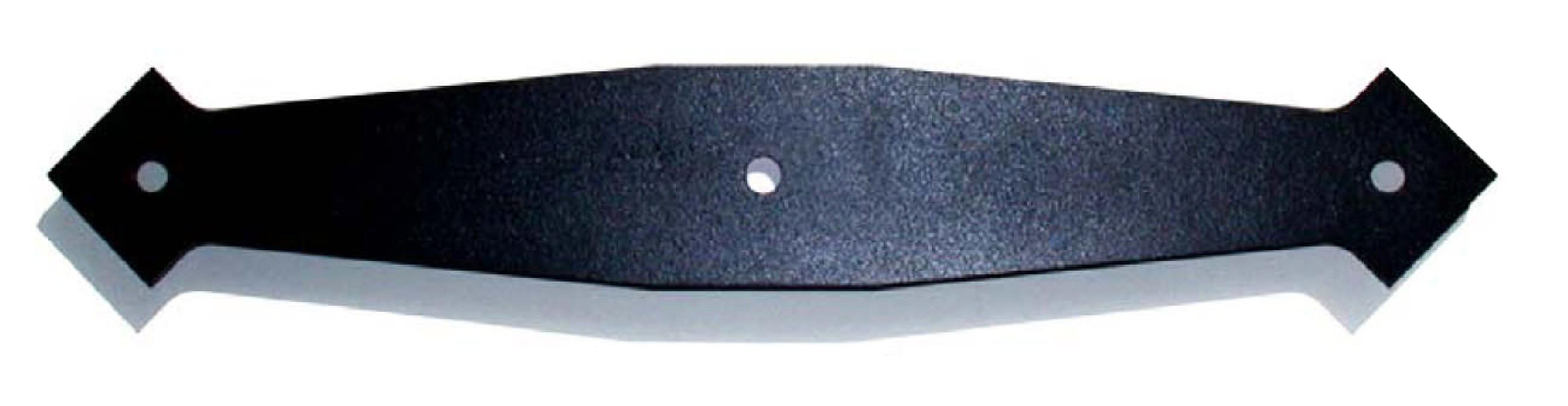 1036 Decorative Back Plate  for 19″ Long Hinges – Powder Coat