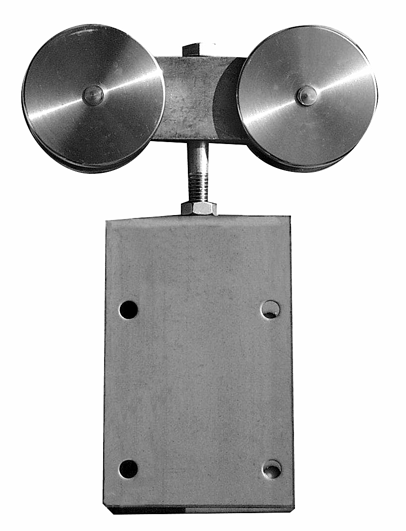 Stainless Steel Hanger Assembly  (with aprons) – ball-bearings  (pair)