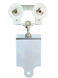 Truck Assembly (Less Aprons) (pair)- Delrin Wheels,  Zinc Plated