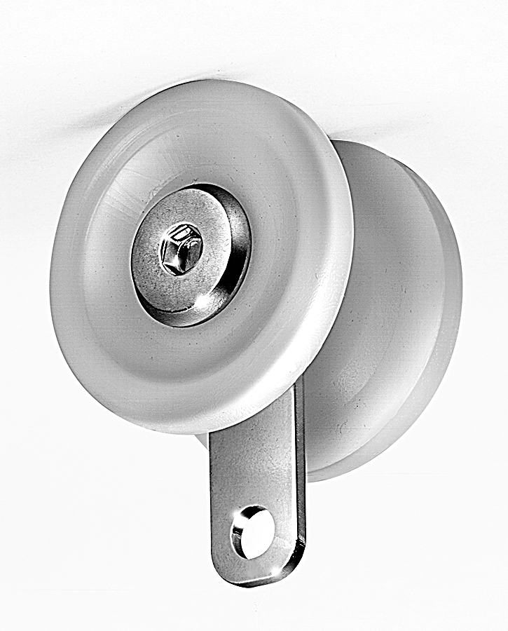 Utility Hanger, Light Duty – Delrin Wheels – Zinc Plated