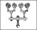 Truck Assembly, Tandem (less Aprons) – ball-bearings (pair) – Zinc Plated with Powder Coated Load Bar