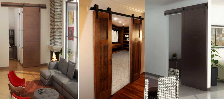Flat Track Hardware for Sliding Doors