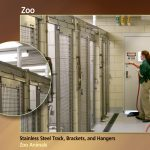 Sliding Door Track for Zoos, Stainless Steel