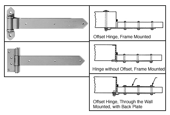 Full Surface Mount Strap Hinge Hardware