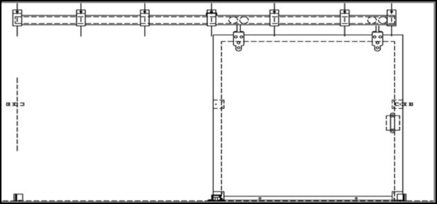 Single Sliding Door Diagram