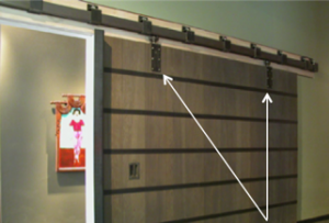 Hanger Attachment Points on Sliding Doors