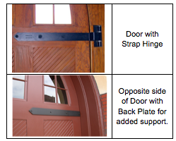 Hinge Plates for Swinging Doors  sc 1 st  Richards-Wilcox Hardware & Swinging Door Hardware | Decorative Strap Hinges - RW Hardware
