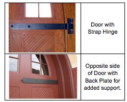 Hinge Plates For Swinging Doors