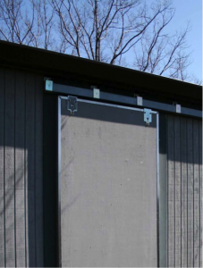 Sidewall track mount on Sliding Door