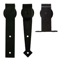 Mount Hangers for Decorative Flat Track Sliding Doors